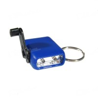 Фонарь динамо Super Mini 2-LED Hank-Crank Battery-Free Keychain