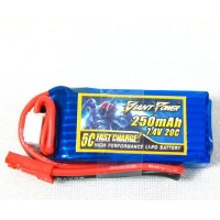 Аккумулятор LI-PO 3.7V 250mAh 20 C/5C Gifnt Power