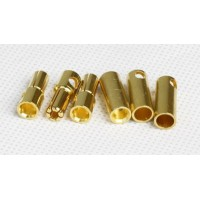 Разъем позолочен. 5mm Gold Connectors 1 пара (2pc)